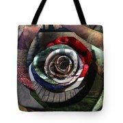 Rose - Collaged Petals Tote Bag