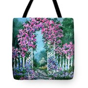 Rose-covered Trellis Tote Bag