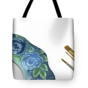 Rose Drawing On Wreath, Tole And Decorative Painting, American S Tote Bag