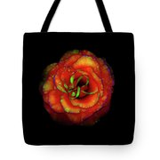 Rose Flower Color Abstract Tote Bag