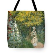 Rose Garden Tote Bag by Claude Monet