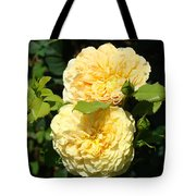 Rose Garden Floral Art Print Yellow Roses Canvas Baslee Troutman Tote Bag