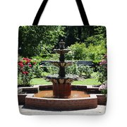 Rose Garden Fountain Tote Bag