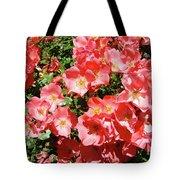 Rose Garden Pink Roses Botanical Landscape Baslee Troutman Tote Bag