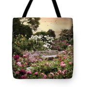 Rose Garden Splendor Tote Bag