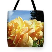Rose Garden Yellow Peach Orange Roses Flowers 3 Botanical Art Baslee Troutman Tote Bag