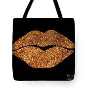 Rose Gold Texture Kiss, Lipstick On Pouty Lips, Fashion Art Tote Bag