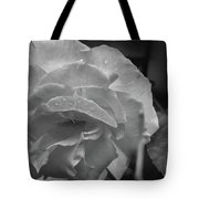 Rose In Black And White Tote Bag by Kelly Hazel