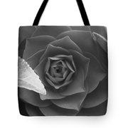 Rose In Black Tote Bag
