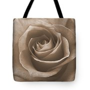 Rose In Sepia Tote Bag