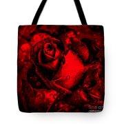 Furious Rose Magic Red Tote Bag