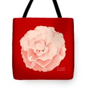 Rose On Red Tote Bag
