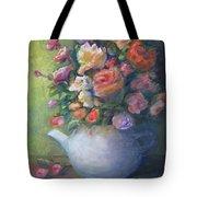 Rose Petal Tea Pot Tote Bag