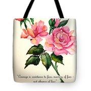 Rose Poem Tote Bag