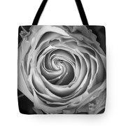 Rose Spiral Black And White Tote Bag by James BO  Insogna
