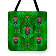 Rose Sugar Skull In Fern Garden Tote Bag