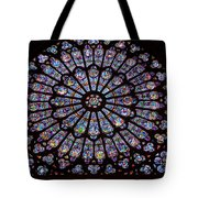 Rose Window At Notre Dame Cathedral Paris Tote Bag