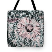 Rose Wine Daisies Tote Bag