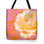 Rose With Pink Background Tote Bag