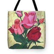 Rose With Roses Tote Bag