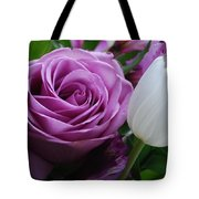 Rose With Tulip Tote Bag