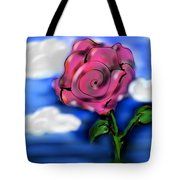 Rose Within The Clouds Tote Bag
