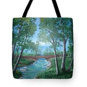 Roseanne And Dan Connor's River Bridge Tote Bag