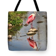 Roseate Spoonbill Reflections Tote Bag