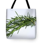 Rosemary Isolated On White Tote Bag