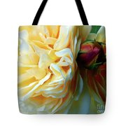Roses And Bud Tote Bag
