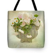 Roses And Daisys Tote Bag