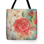 Roses And Flowers Tote Bag