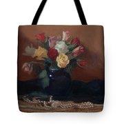 Roses And Pearls Tote Bag