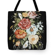 Roses And Poppies Bouquet Tote Bag