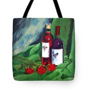 Roses And Wine Tote Bag