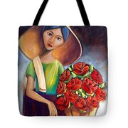 Roses Are Ref Tote Bag