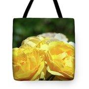 Roses Art Prints Canvas Sunlit Yellow Rose Flowers Baslee Troutman Tote Bag