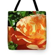 Roses Art Prints Orange Rose Flower 11 Giclee Prints Baslee Troutman Tote Bag