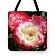 Roses Art Prints Pink White Rose Flowers Gifts Baslee Troutman Tote Bag