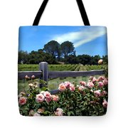 Roses At Rusack Vineyards Tote Bag