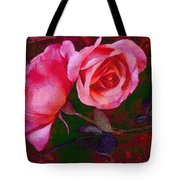 Roses Beautiful Pink Vegged Out Tote Bag