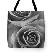 Roses Black And White Tote Bag