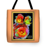 Roses For Anne Catus 1 No. 3 V A With Decorative Ornate Printed Frame. Tote Bag