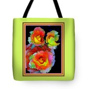 Roses For Anne Catus 1 No. 3 V B With Decorative Ornate Printed Frame. Tote Bag