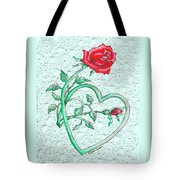 Roses Hearts And Lace Flowers Design  Tote Bag