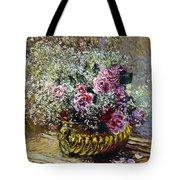 Roses In A Copper Vase Tote Bag