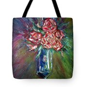 Roses In A Vase Tote Bag