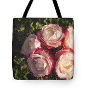 Roses In A Vase,on The Grass Tote Bag