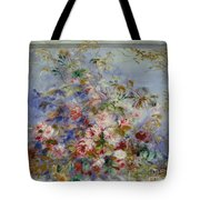 Roses In A Window Tote Bag