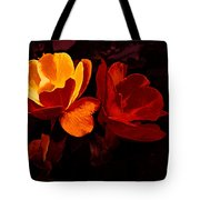 Roses In Molten Gold Art Tote Bag